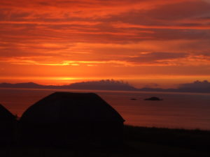 Aird Cottage :: Sunset from Cottage Museum