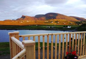 Aird Cottage :: View from the sun lounge patio over Kilmaluag Bay to Stron Vourlinn